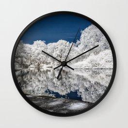 Lake Reflections - Infrared Wall Clock