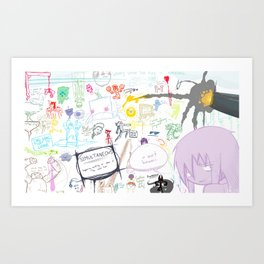 Simultaneous Art Print