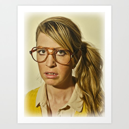 i.am.nerd. :: lizzy c. Art Print