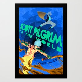 Scott Pilgrim VS The World Alternate Movie Poster Art Print