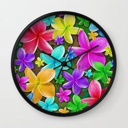 Plumerias Flowers Dream Wall Clock