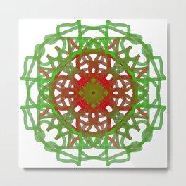 Faux Mandala Ornament Metal Print