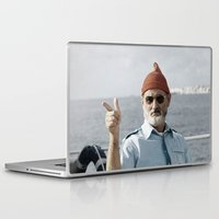 life aquatic Laptop & iPad Skins featuring LIFE AQUATIC by VAGABOND