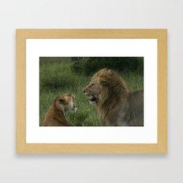 Mating Call Framed Art Print