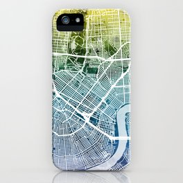 New Orleans Street Map iPhone Case