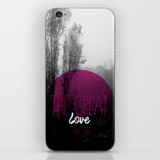 The great love - romantic photography and typography design iPhone & iPod Skin
