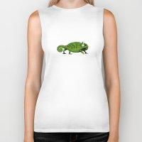 chameleon Biker Tanks featuring Chameleon by Badamg