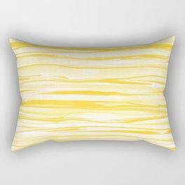 Milk and Honey Yellow Stripes Abstract Rectangular Pillow
