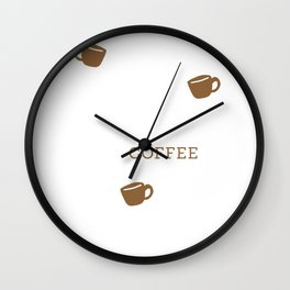 Accio Coffee - Acquire Coffee - Fictional Logo Design Wall Clock