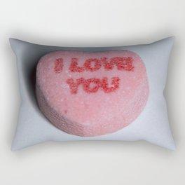 """Candy Heart """"I Love You"""" Rectangular Pillow"""