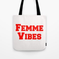 Femme Vibes - Red Tote Bag
