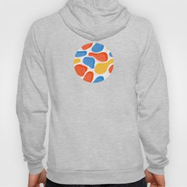 Abstract Orange, Blue & Yellow Memphis Pattern Hoody