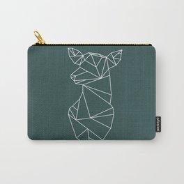 Geometric Doe (White on Slate) Carry-All Pouch
