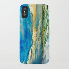 Blue Grean Fine Art Print Painted Seascape iPhone Case
