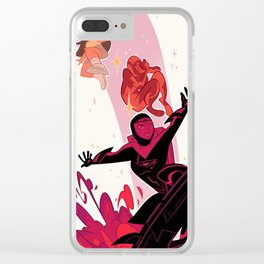 Valerie Gray Clear iPhone Case