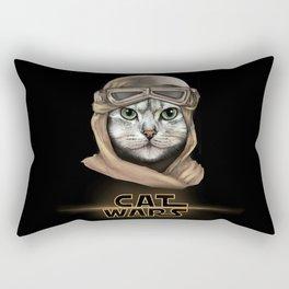 Cat Wars Rey Rectangular Pillow