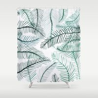 palm Shower Curtains featuring PALM by Alex McBain Paints