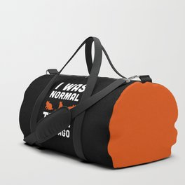Three Cats Ago Funny Quote Duffle Bag