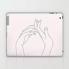 Hands line drawing illustration - Abi Natural Laptop & iPad Skin