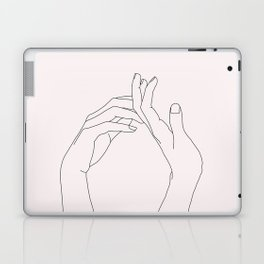 Hands line drawing illustration - Abi Natural Laptop & iPad Skin