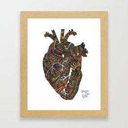 Heart-Beats Framed Art Print