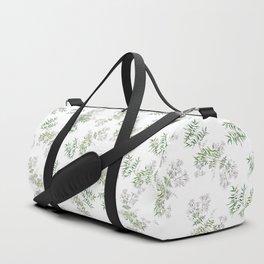 Jasmine Flower Illustration Duffle Bag