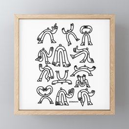 Poses 01 Framed Mini Art Print