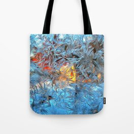 Frozen window Tote Bag