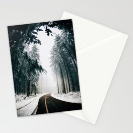 Standing in snow Stationery Cards