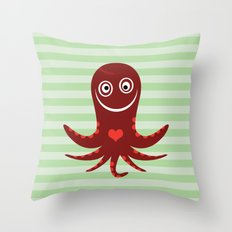 Squid of Pain Throw Pillow