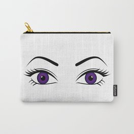 Violet Eyes (Both Eyes Open) Carry-All Pouch