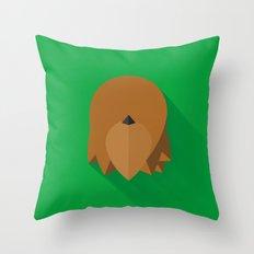 Chewbacca Minimalist Poster Throw Pillow