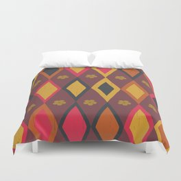 Diamonds and Daisies Duvet Cover