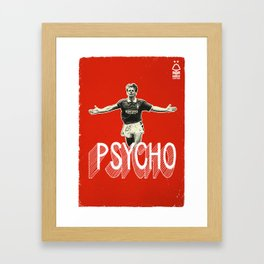 Nottingham Forest Legends Series: Stuart Pearce Graphic Poster Framed Art Print