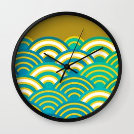 Seigaiha or seigainami literally means wave of the sea. Merry Christmas card Wall Clock