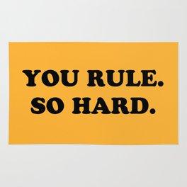 YOU RULE. SO HARD. Rug