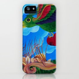 Flight of the wounded heart iPhone Case