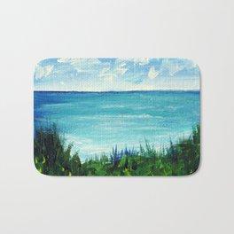 Monet's Seaside Overlook Modern Impressionist Acrylic Painting Stefanie Hanslik Fox Bath Mat