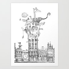 Odd Neighborhood Art Print