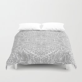 Frost & Ash - an Art Nouveau Inspired Pattern Duvet Cover