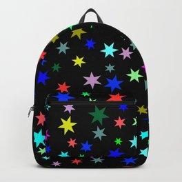 Stars on black ground Backpack