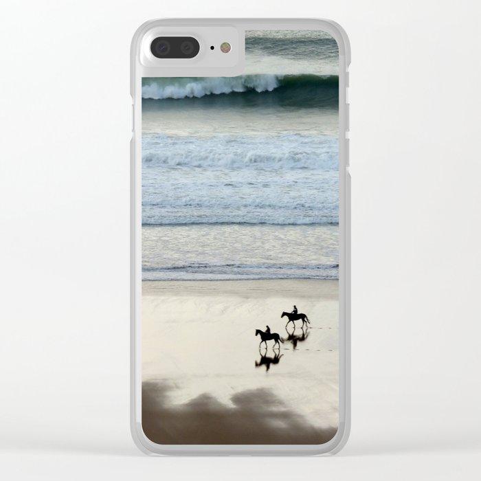 Sea Horses Clear iPhone Case