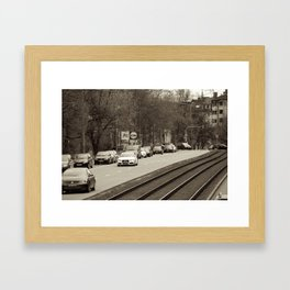 Street in Munich Framed Art Print