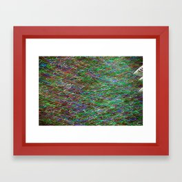 Abstract, New York City - Holiday 2012  Framed Art Print