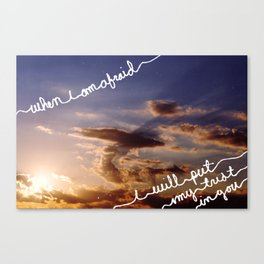 Psalm 56:3 Canvas Print