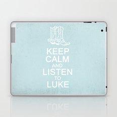 Keep Calm and Listen to Luke Laptop & iPad Skin