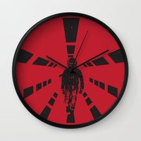 2001 Wall Clocks featuring 2001 by Geminianum