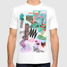 Defrag. White MEDIUM Mens Fitted Tee