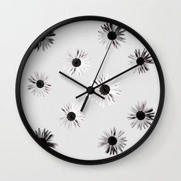 Shadow Box Flowers Wall Clock