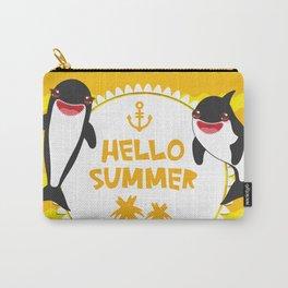 Hello Summer, Kawaii orca Carry-All Pouch